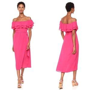 Show Me Your Mumu Rosie Dress Crepe Off Shoulder S